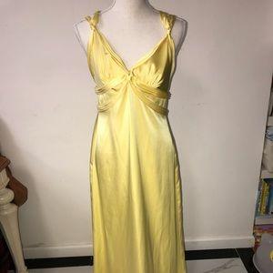 BCBG yellow gown